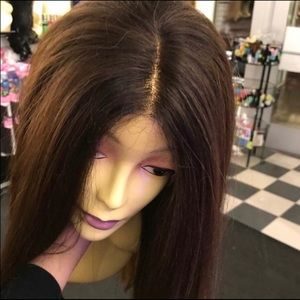 Accessories - Wig long Brown swisslace lacefront 2019 Hairstyle